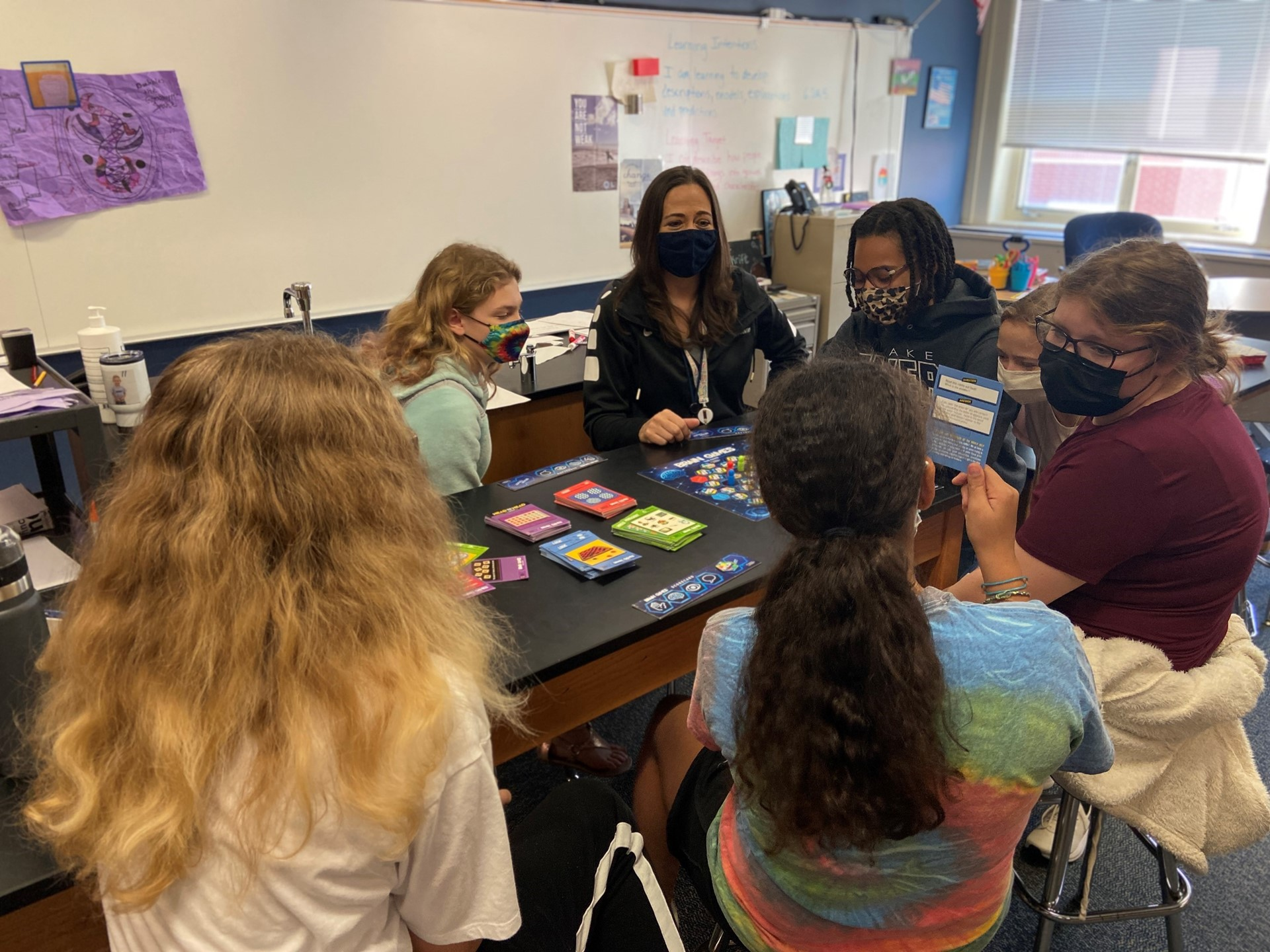 Students play a STEM game in Science class.