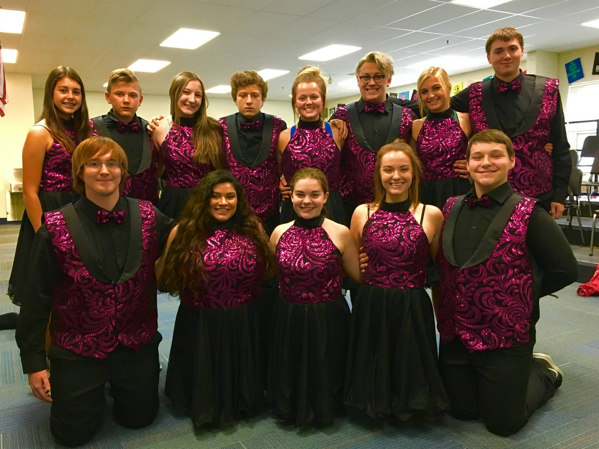 Jet Set students pose for a picture before their concert