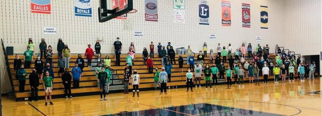 Middle School St. Patrick's Day performance