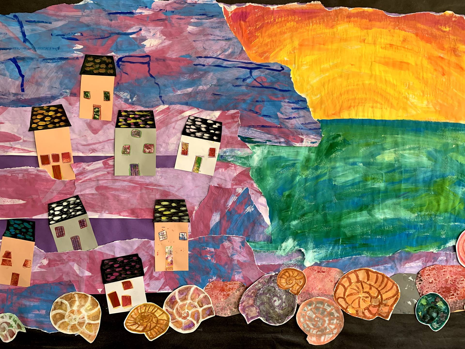 Student artwork inspired by Mary Anning