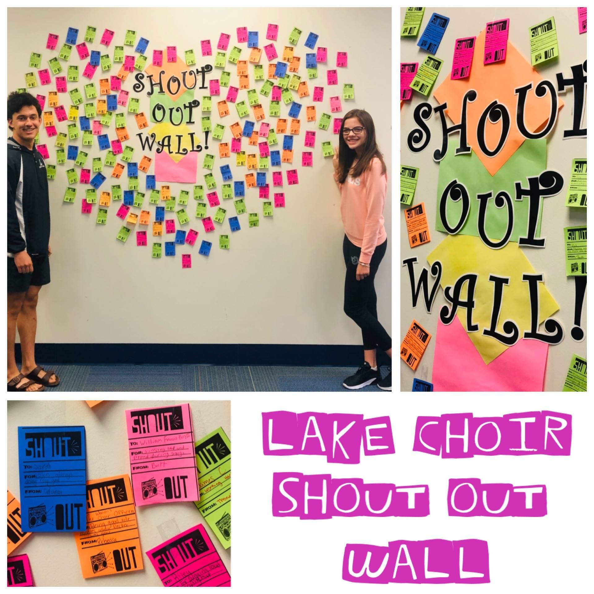 Lake Choir Shout Out Wall